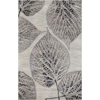Hand-Tufted Ian Floral New Zealand Wool Area Rug - 5' x 8'