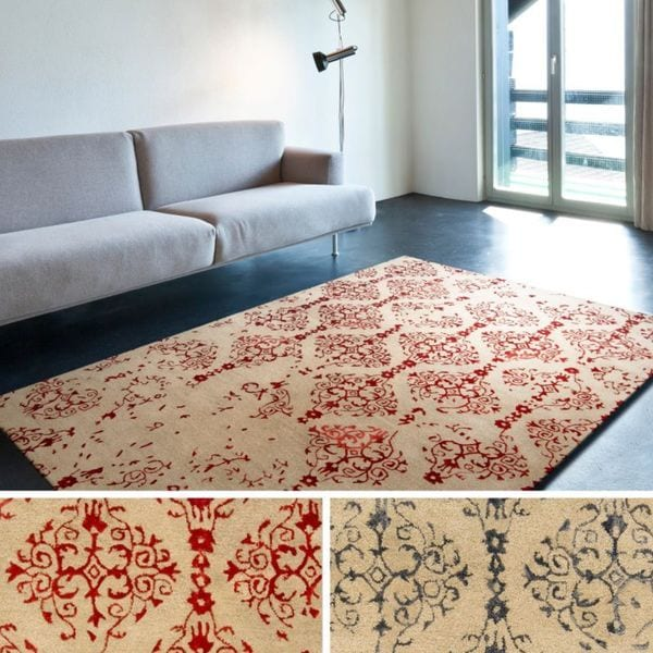 Hand Tufted Theo Abstract New Zealand Wool Area Rug - 5' x 8'