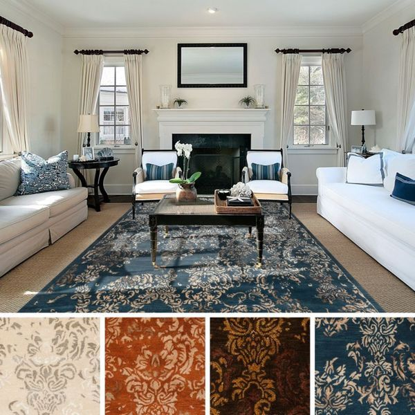 Hand Tufted Wes Abstract New Zealand Wool Area Rug