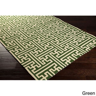 Hand-Hooked Gwyneth Contemporary Geometric Indoor/Outdoor Area Rug (9' x 12')