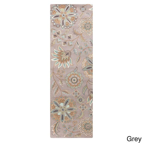Lily Hand Tufted Transitional Floral Area Rug