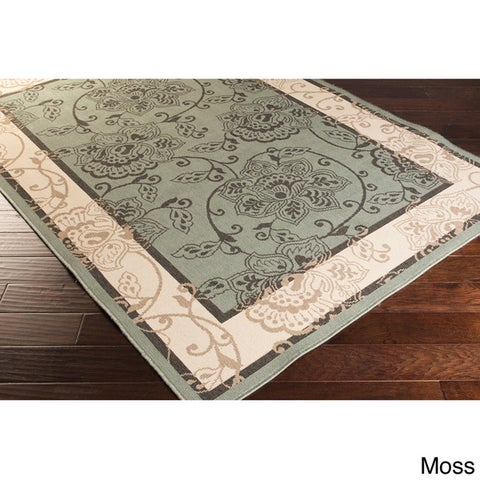 Copper Grove Mountain Floral Polypropylene Indoor/ Outdoor Area Rug