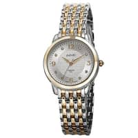 August Steiner Women's Diamond-Accented Swiss Quartz Bracelet Watch with FREE Bangle
