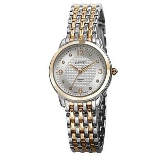 August Steiner Women's Diamond-Accented Swiss Quartz Bracelet Watch