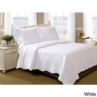 Greenland Home Fashions La Jolla Seashell Pure Cotton 3-piece Quilt Set