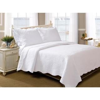 Greenland Home Fashions La Jolla Seashell Pure Cotton 3-piece Quilt Set|https://ak1.ostkcdn.com/images/products/9269630/P16433697.jpg?impolicy=medium