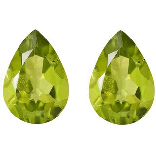 Pear-cut 5x8 mm 1 3/4ct TGW Peridot.(Set of 2)