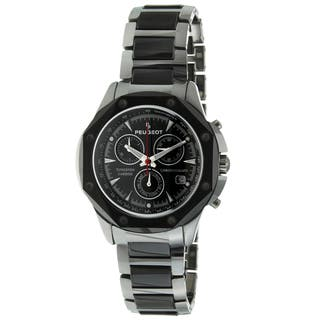 Peugeot Men's Tungsten/ Ceramic Link Swiss Movement Watch|https://ak1.ostkcdn.com/images/products/9269682/P16433809.jpg?impolicy=medium