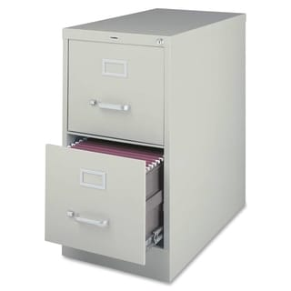Lorell Light Grey 2-drawer Commercial-grade 28-inch Vertical File