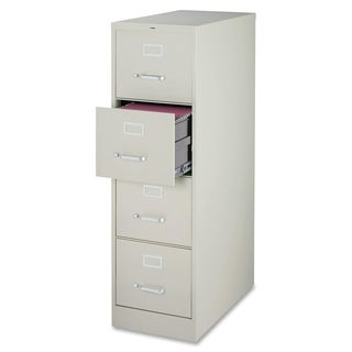 Lorell Light Grey 4-drawer Commercial-grade 52-inch Vertical File