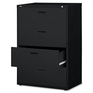 Lorell LLR60560 Black 4-drawer Steel Lateral File