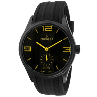 Peugeot Men's 2042YBK Black Rubber Sport Watch