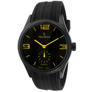 Peugeot Men's 2042YBK Black Rubber Sport Watch|https://ak1.ostkcdn.com/images/products/9269730/P16433810.jpg?impolicy=medium