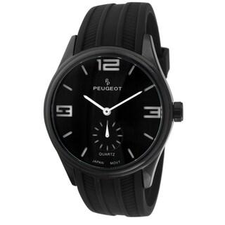 Peugeot Men's 2042WBK Japanese Quartz Black Rubber Sport Watch
