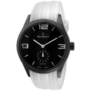 Peugeot Men's 2042WWT White Rubber Sport Watch