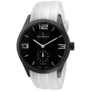 Peugeot Men's 2042WWT White Rubber Sport Watch|https://ak1.ostkcdn.com/images/products/9269734/P16433806.jpg?impolicy=medium