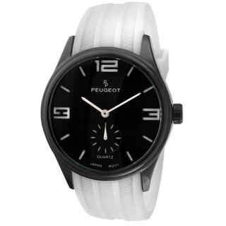 Peugeot Men's 2042WWT White Rubber Sport Watch