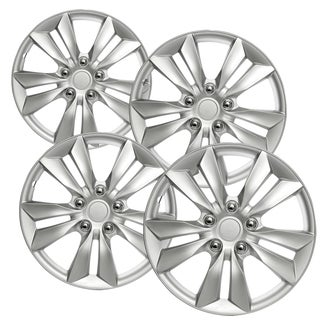 WCA_1031_16S Design ABS Silver 16-inch Hub Cap (Set of 4)