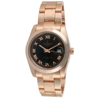Peugeot Women's Swiss Rose Goldtone Black Dial Watch