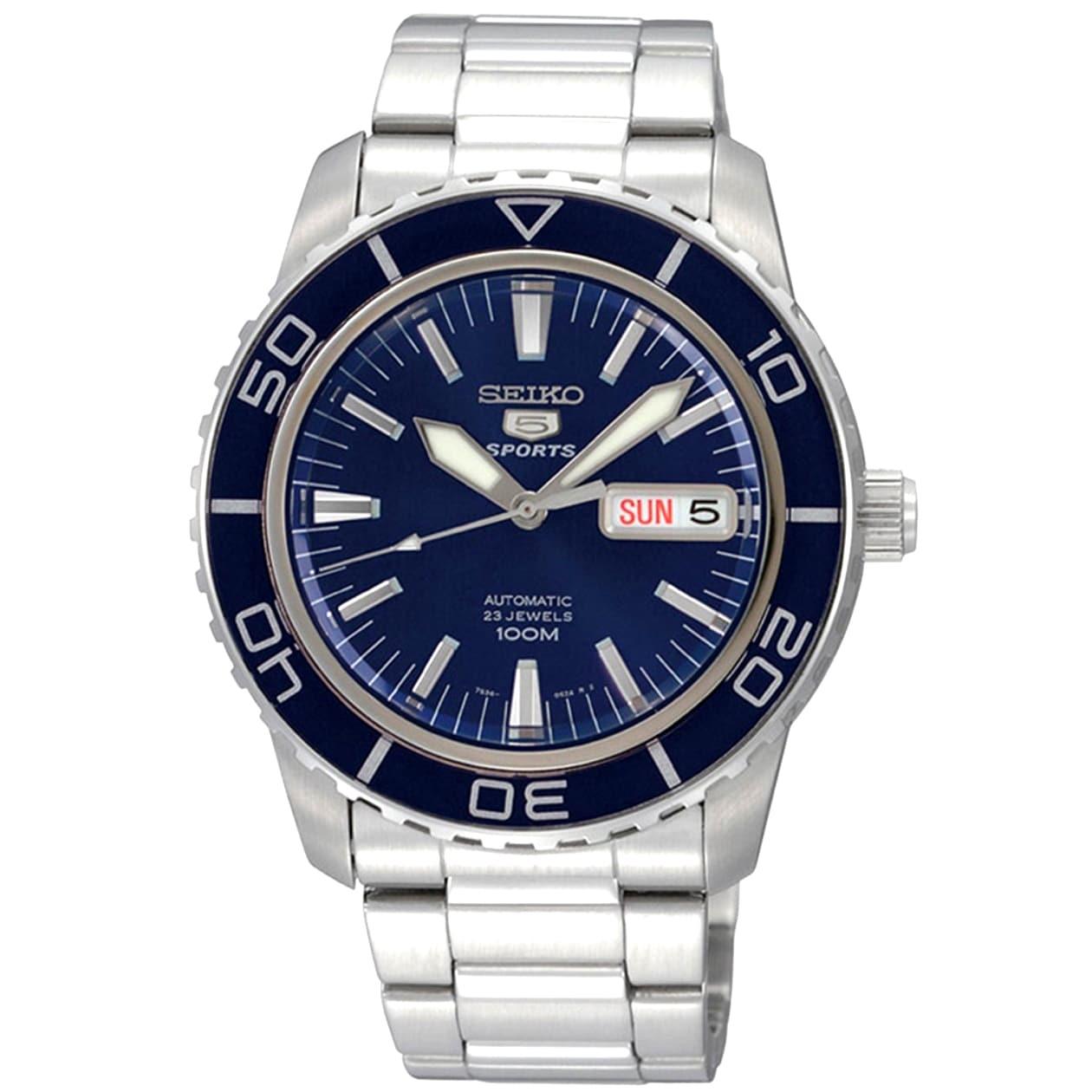 Seiko 5 Men's SNZH53K1 Sports Blue Watch (Blue), Size One...