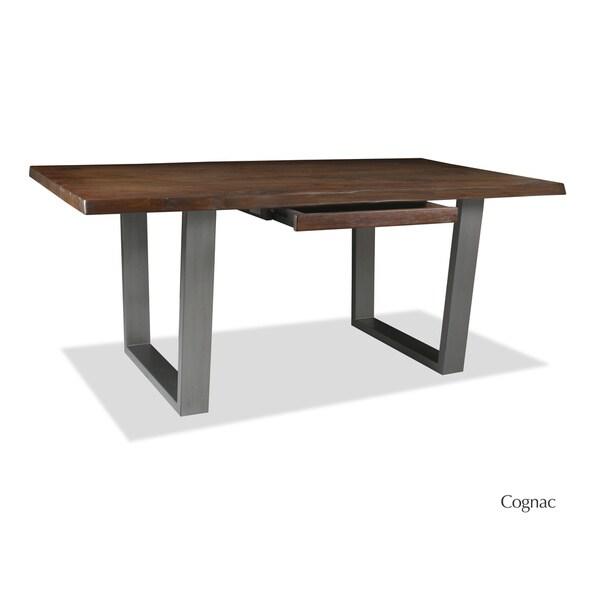 soho live edge hardwood and wrought iron desk free shipping today