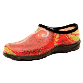 Garden Outfitters Women's Rain and Garden Paisley Red Shoes (Size 9)