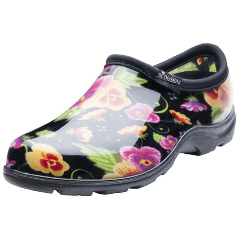 Garden Outfitters Women's Black Pansy Rain and Garden Shoes (Size 8)