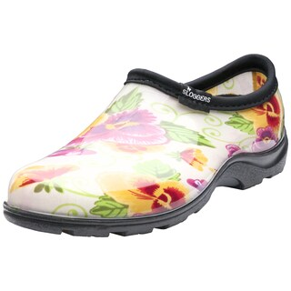 Garden Outfitters Women's Cream Print Rain and Garden Shoes (Size 10)