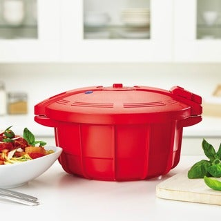 SilverStone Microwave Cookware 3 4/10-quart Chili Red Large Microwave Pressure Cooker