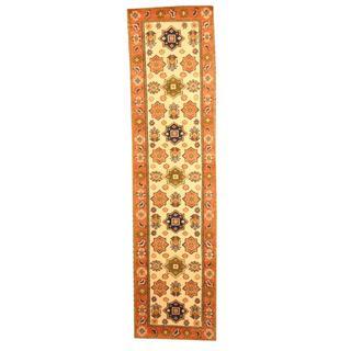 Herat Oriental Indo Hand-knotted Kazak Wool Runner (2'6 x 8')