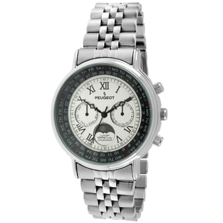 Peugeot Women's 7090S Silvertone Roman Numeral Multifunction Watch