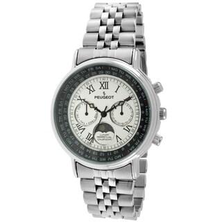Peugeot Women's 7090S Silvertone Roman Numeral Multifunction Watch
