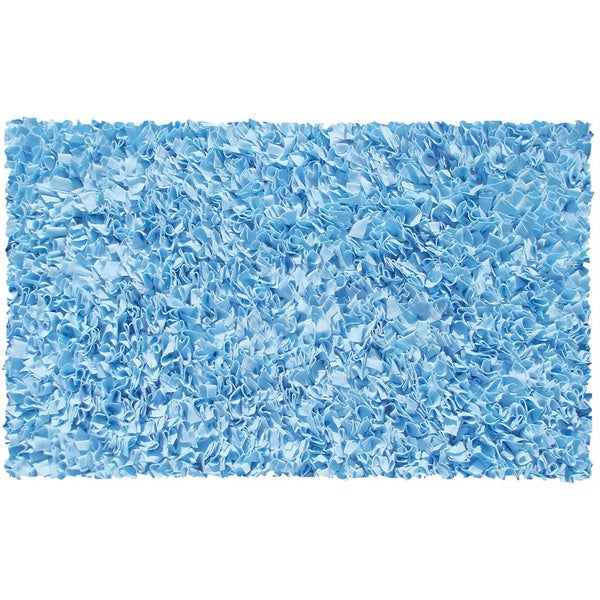 Shaggy Raggy Light Blue Area Rug - 4'7 X 7'7