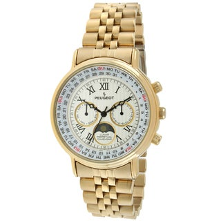Peugeot Women's Lunar Perpetual Calendar Goldtone Multifunction Watch