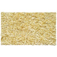 Shaggy Raggy Yellow Cotton Area Rug (4'7 x 7'7)