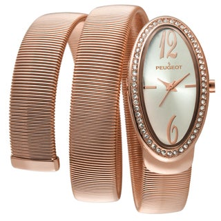 Peugeot Women's 7088RG Rose Gold Spiral Snake Watch