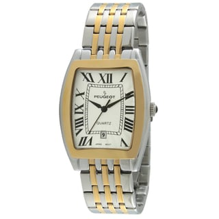 Peugeot Men's 1041TT Tourneau Guilloche Two-tone Watch