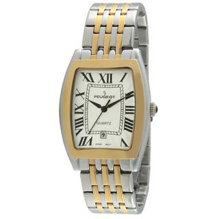 Peugeot Men's 1041TT Tourneau Guilloche Two-tone Watch|https://ak1.ostkcdn.com/images/products/9270040/P16433969.jpg?impolicy=medium