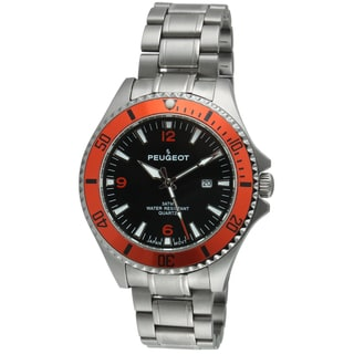Peugeot Men's 1031OR Black and Orange Sport Watch