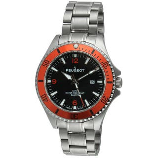 Peugeot Men's 1031OR Black and Orange Sport Watch|https://ak1.ostkcdn.com/images/products/9270083/P16433970.jpg?impolicy=medium