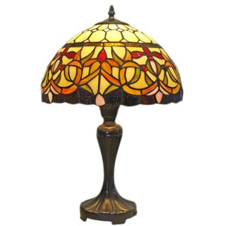 Amora Lighting Tiffany Style Floral Design 19-inch Table Lamp
