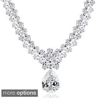 Icz Stonez Sterling Silver 69 1/2ct Cubic Zirconia Teardrop Estate Necklace