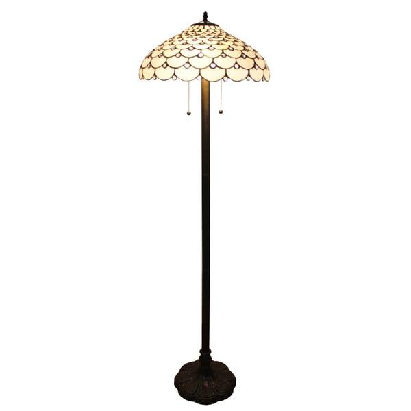 amora lighting tiffany style jeweled design 61 inch floor lamp free. Black Bedroom Furniture Sets. Home Design Ideas