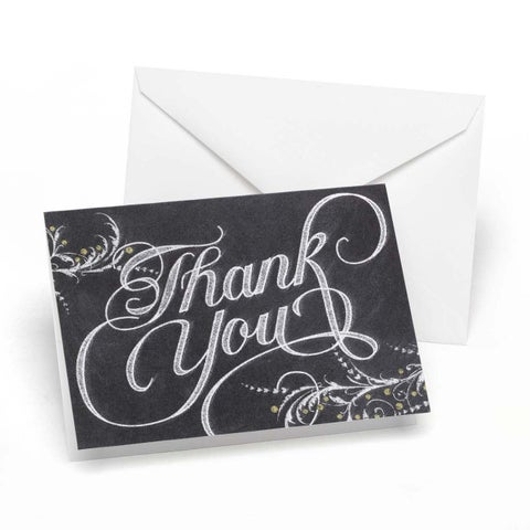Whimsical Chalkboard Thank You Notes