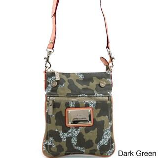 Anais Gvani Women's Green Camouflage Messenger Bag