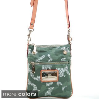 Anais Gvani Women's Green Camouflage Messenger Bag
