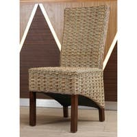 International Caravan Bayu Abaca Mahogany Dining Chair