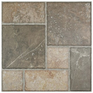 SomerTile 17.75x17.75-inch Salvador Magma Ceramic Floor and Wall Tile (Case of 8)