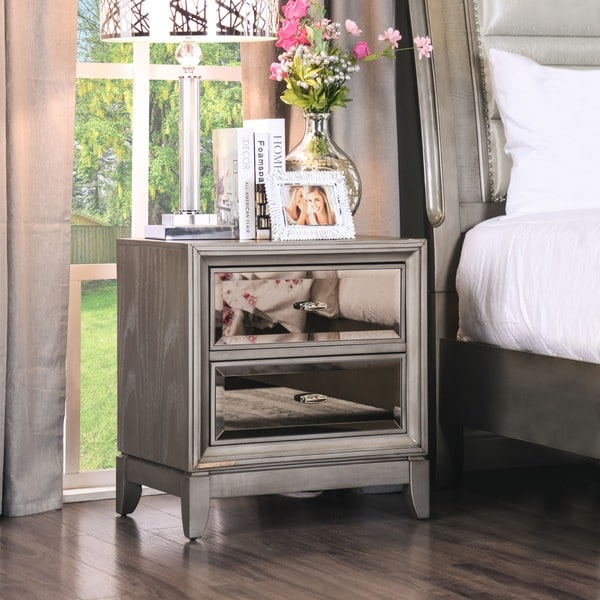 Furniture of america gold tinted nightstand free for Little girls nightstand