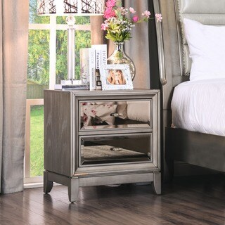 Silver Orchid Grant Gold-tinted Nightstand (2 options available)